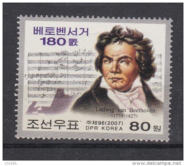COREE DU NORD   DPR KOREA  :   Yvert  3608     Neuf XX Luxe MNH   Beethoven - Corée Du Nord