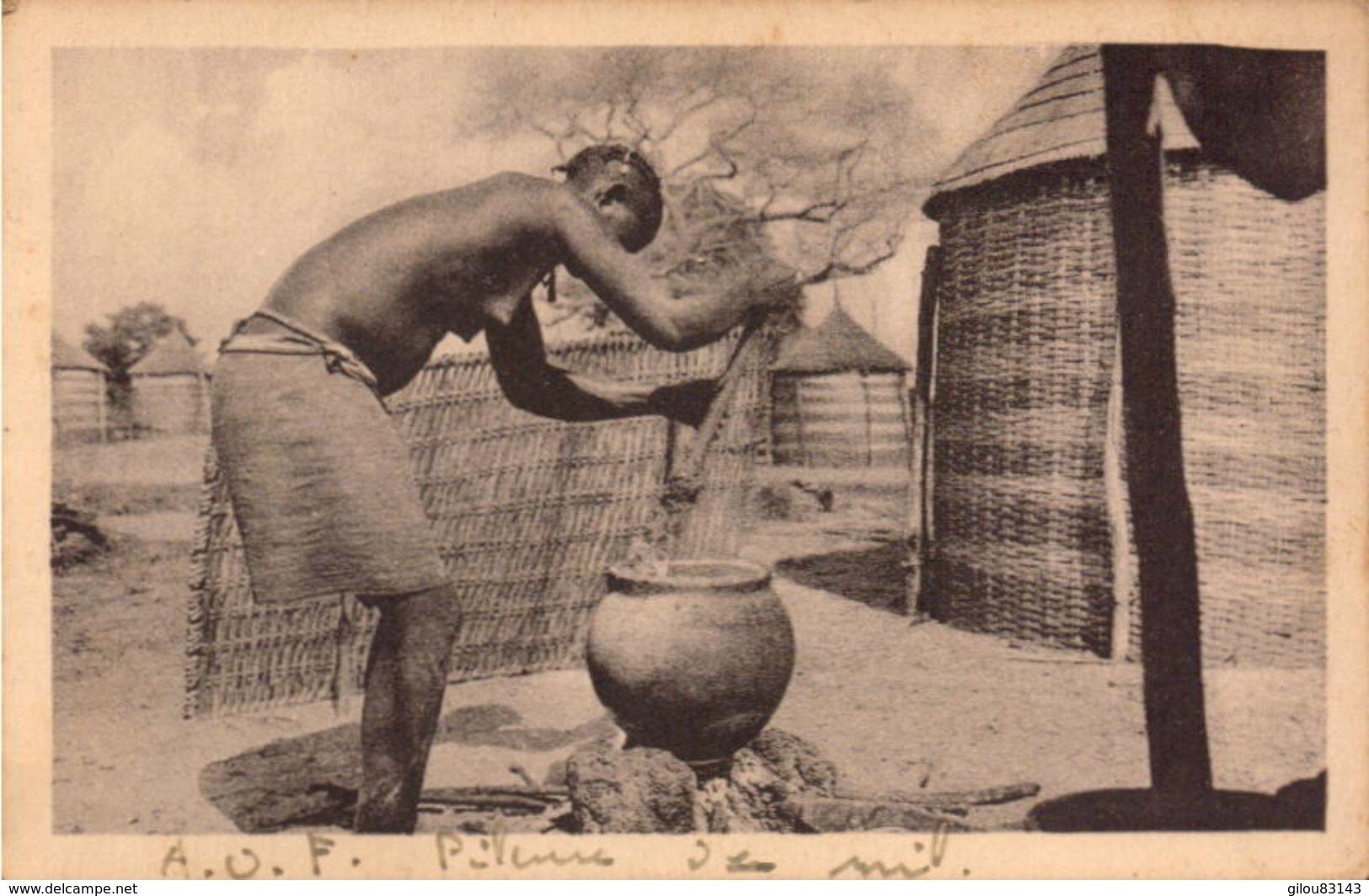 Nus, Afrique Occidentale Française, Lot De 3 Photos       (bon Etat)  Dim: 11 X 7. - Africa (del Sur, Del Este, Del Oeste)