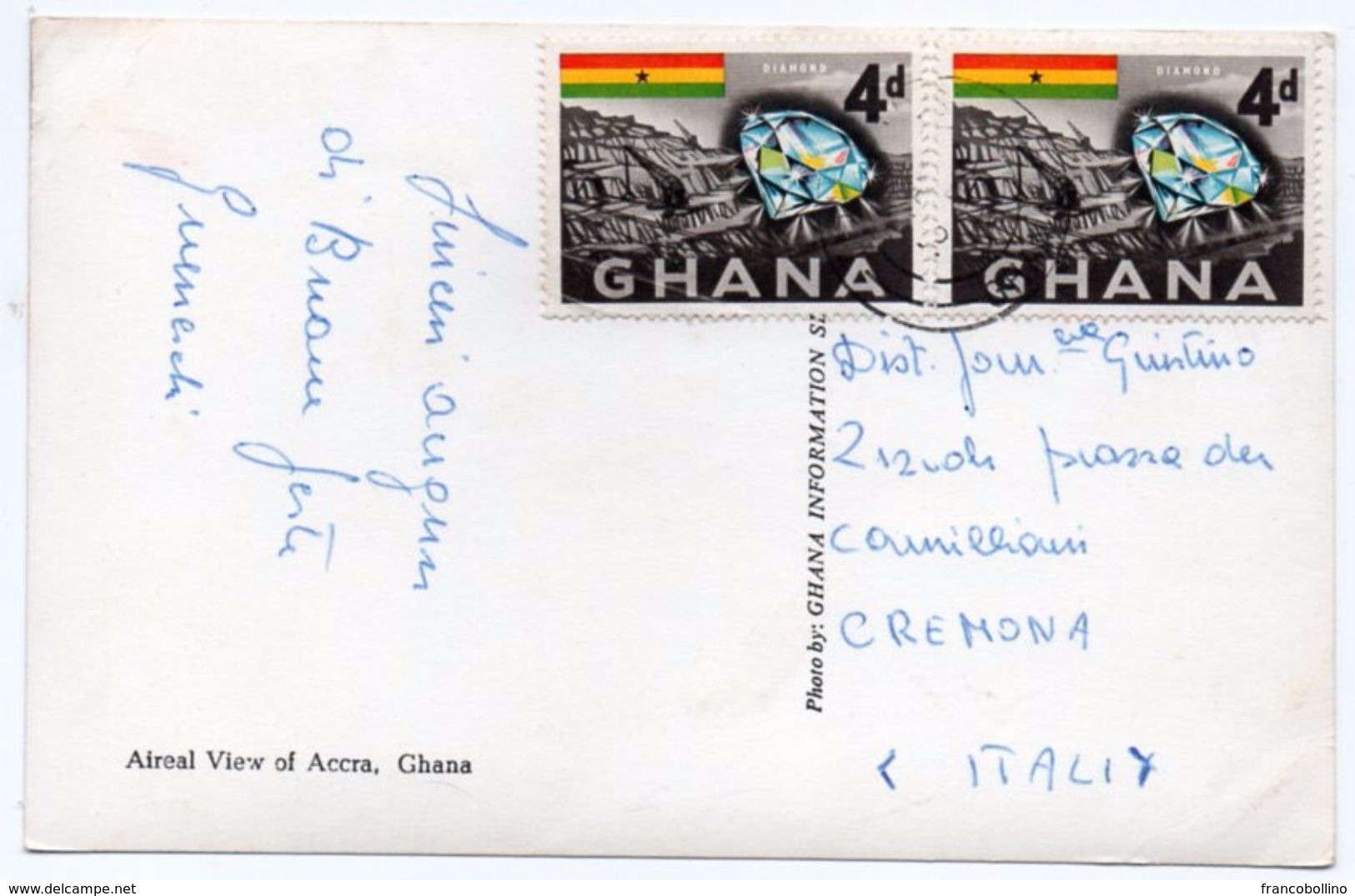 GHANA - AERIAL VIEW OF ACCRA / THEMATIC STAMPS-DIAMONDS - Ghana - Gold Coast