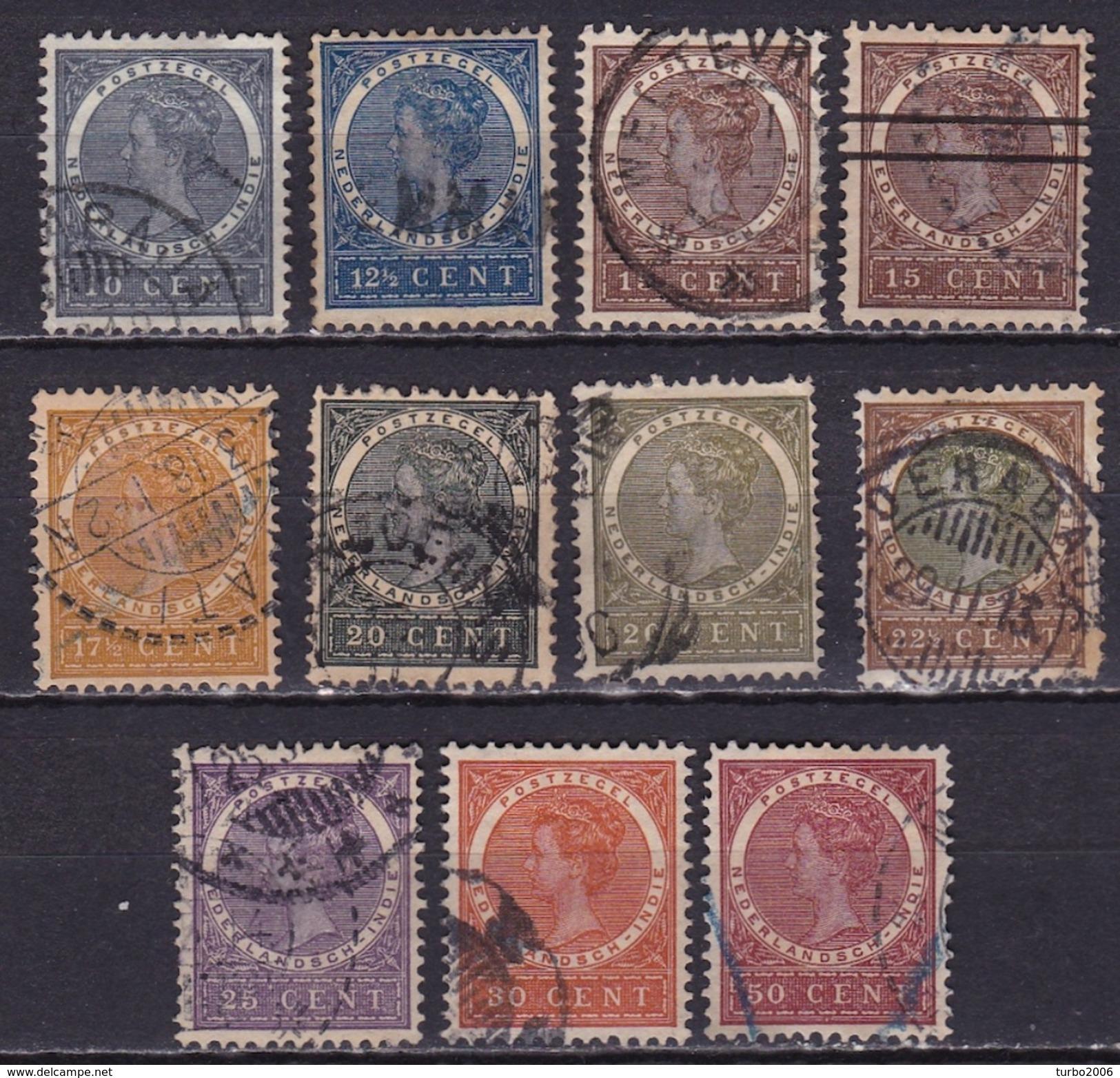 Ned. Indië: 1903-08 Koningin Wilhelmina Complete Gestempelde Serie NVPH 48 / 57 - Indes Néerlandaises