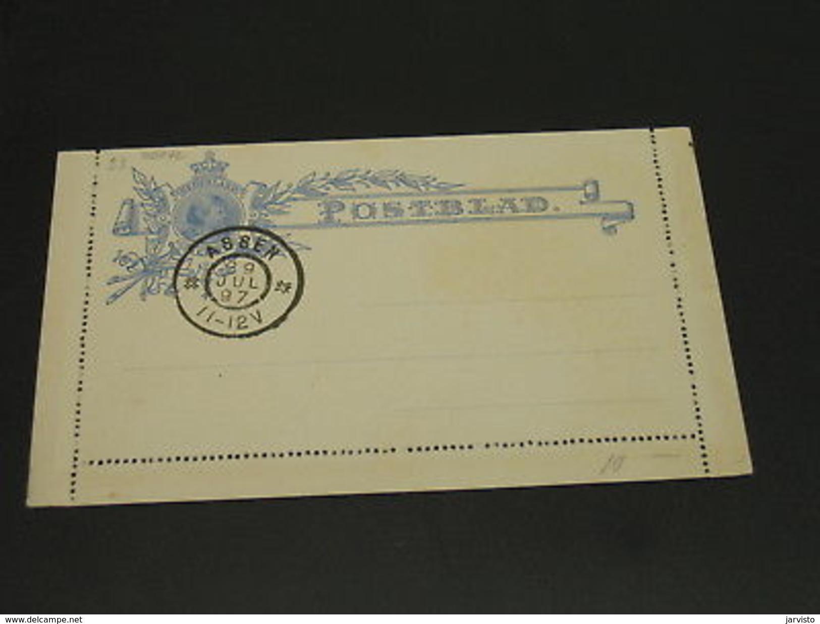 Netherlands 1897 Assen Letter Card *20242 - Netherlands