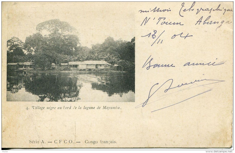 N°55462 -cpa Village Nègre Au Bord De La Lagune De Mayumba- - Congo Français - Autres