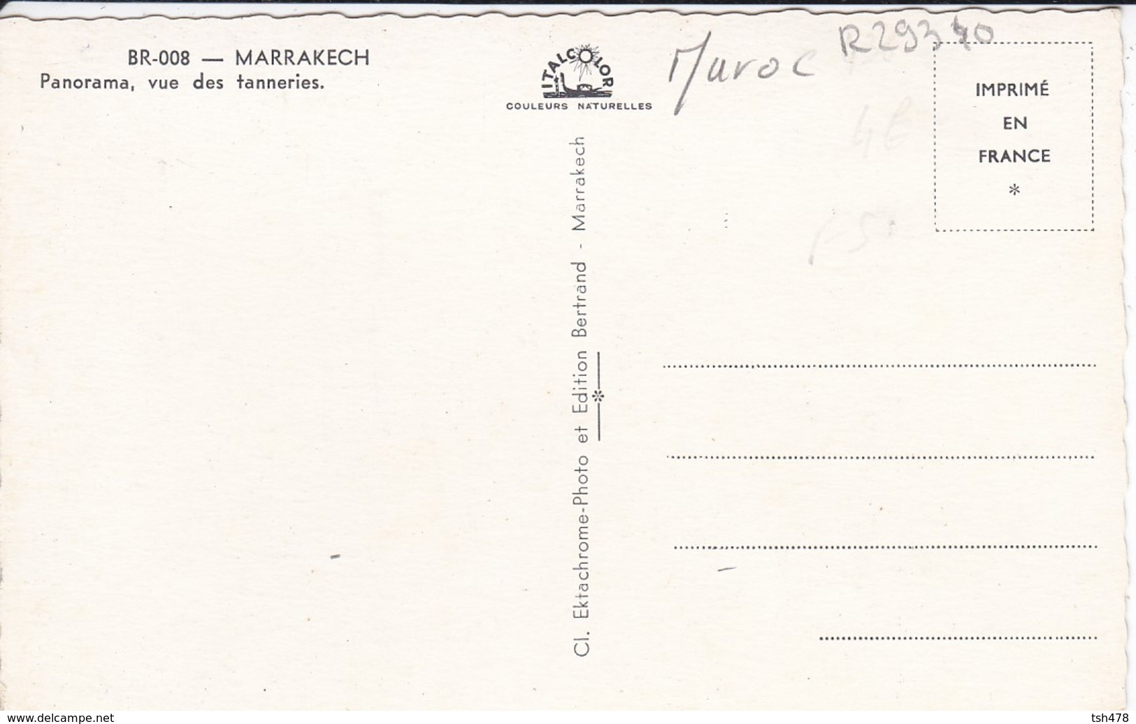 MAROC----MARRAKECH--Panorama Vue Des Tanneries--voir  2 Scans - Marrakech