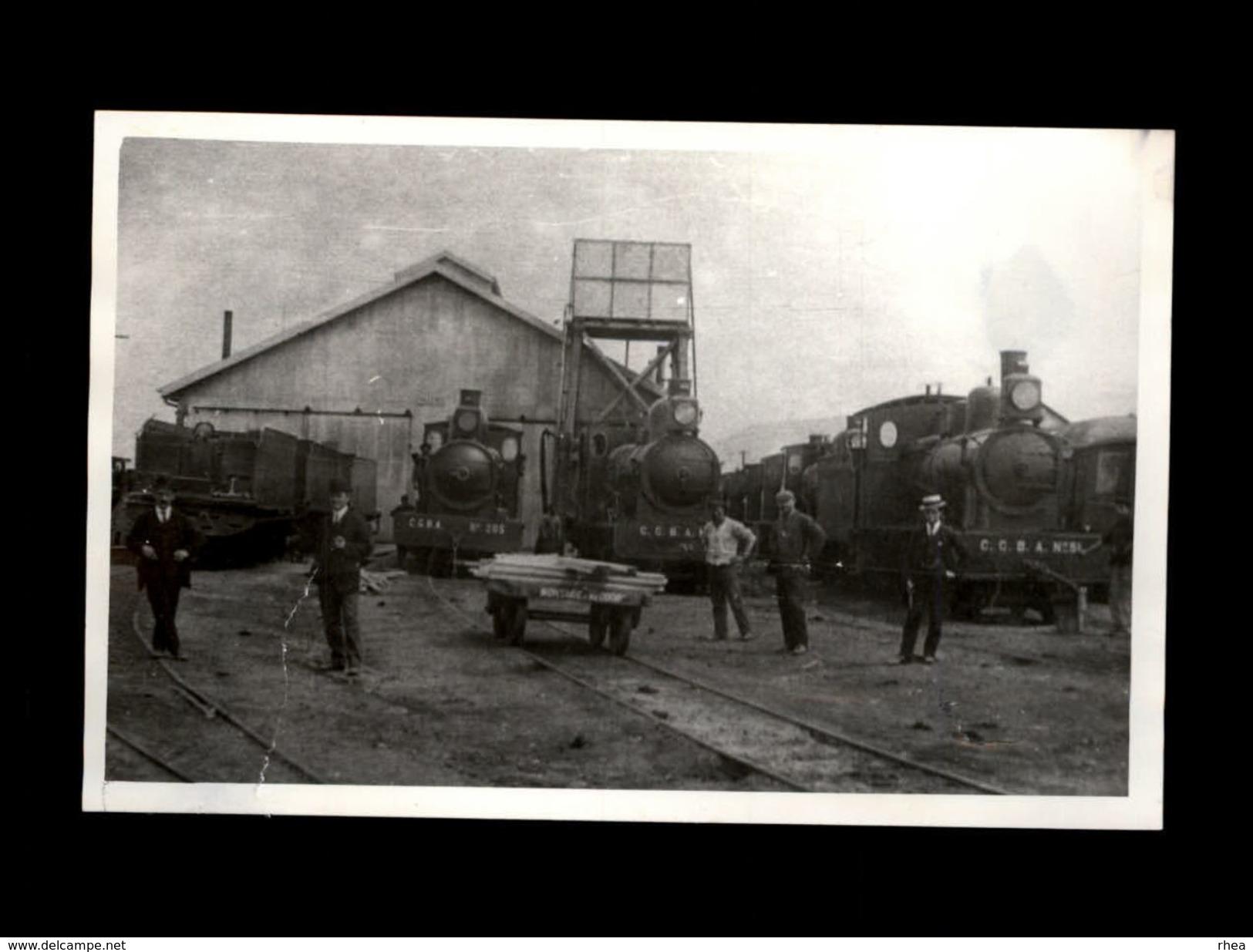TRAINS - ARGENTINE - BUENOS AIRES - Talleres Riachuelo - PHOTO à Partir Des Archives - Trains