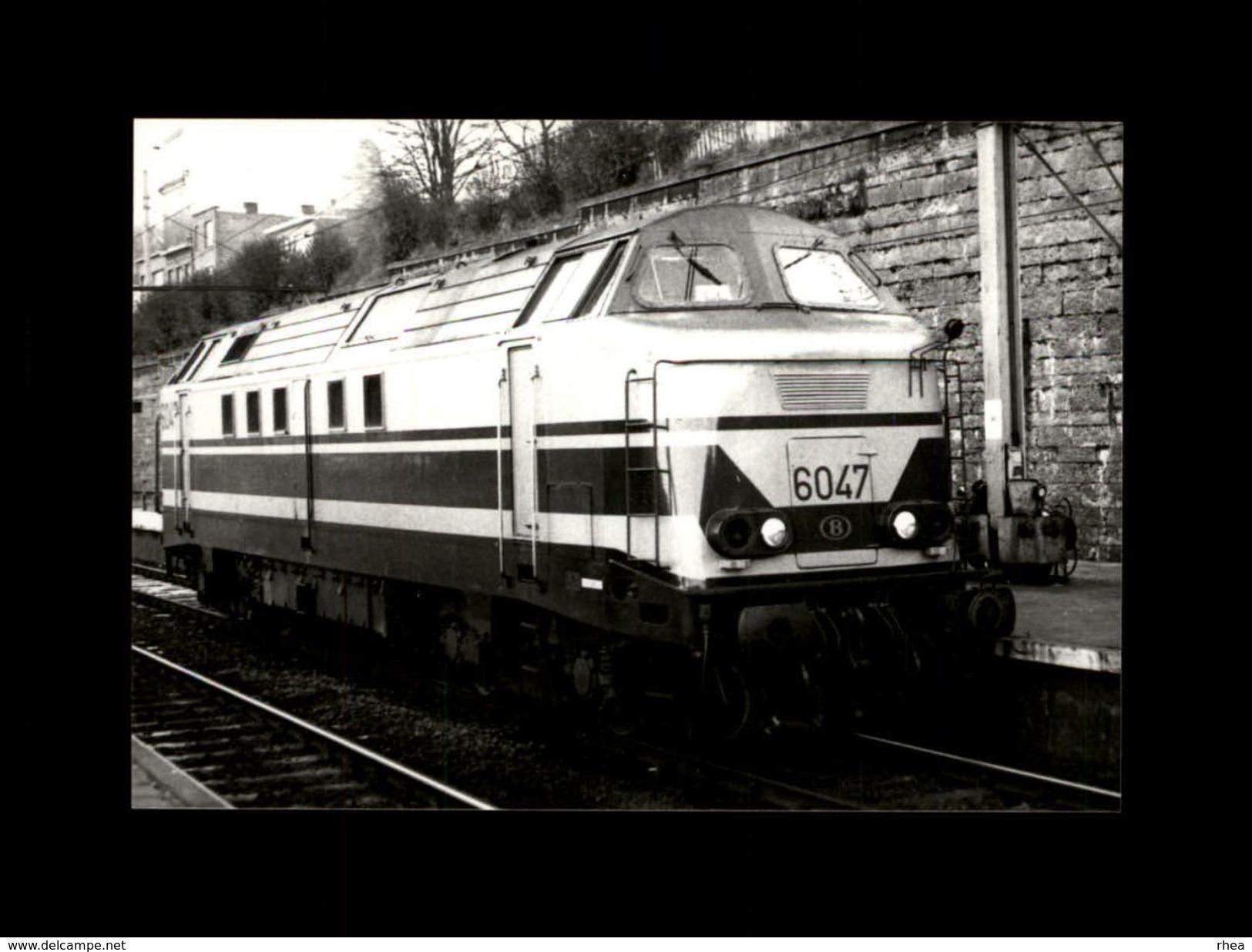 TRAINS - LIEGE - BELGIQUE - Locomotive 6047 - Trains
