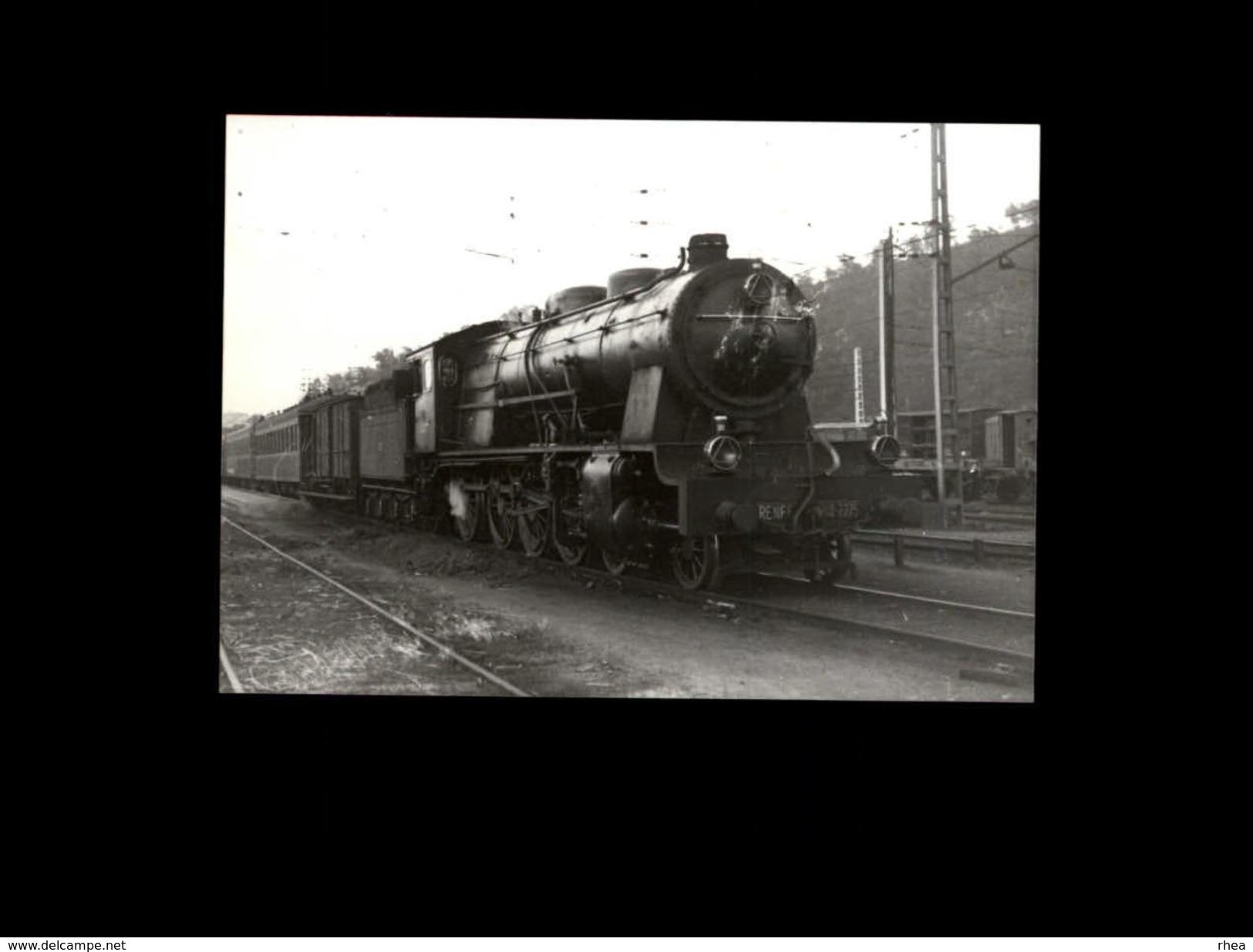 TRAINS - MASSANES - ESPAGNE - 1952 - Locomotive RENFE - Trains