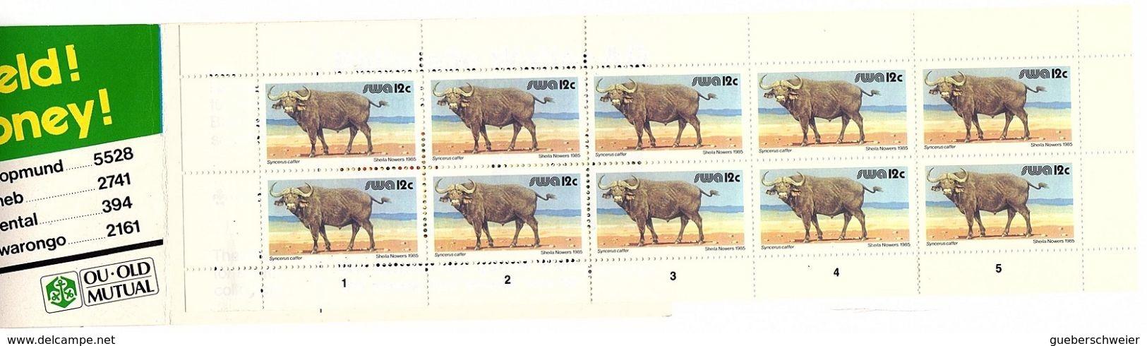 AD 4 - AFRIQUE DU SUD Carnet De 10 Timbres Bufles - Carnets