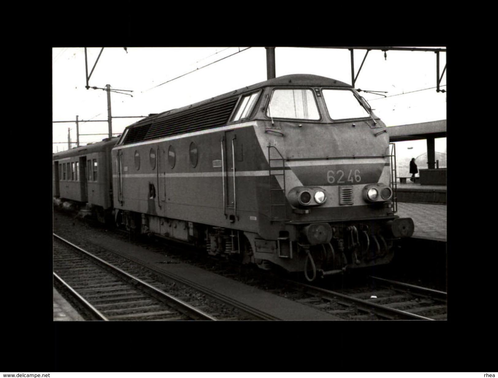 TRAINS - BERCHEM - BELGIQUE - Locomotive 6246 -1977 - Trains