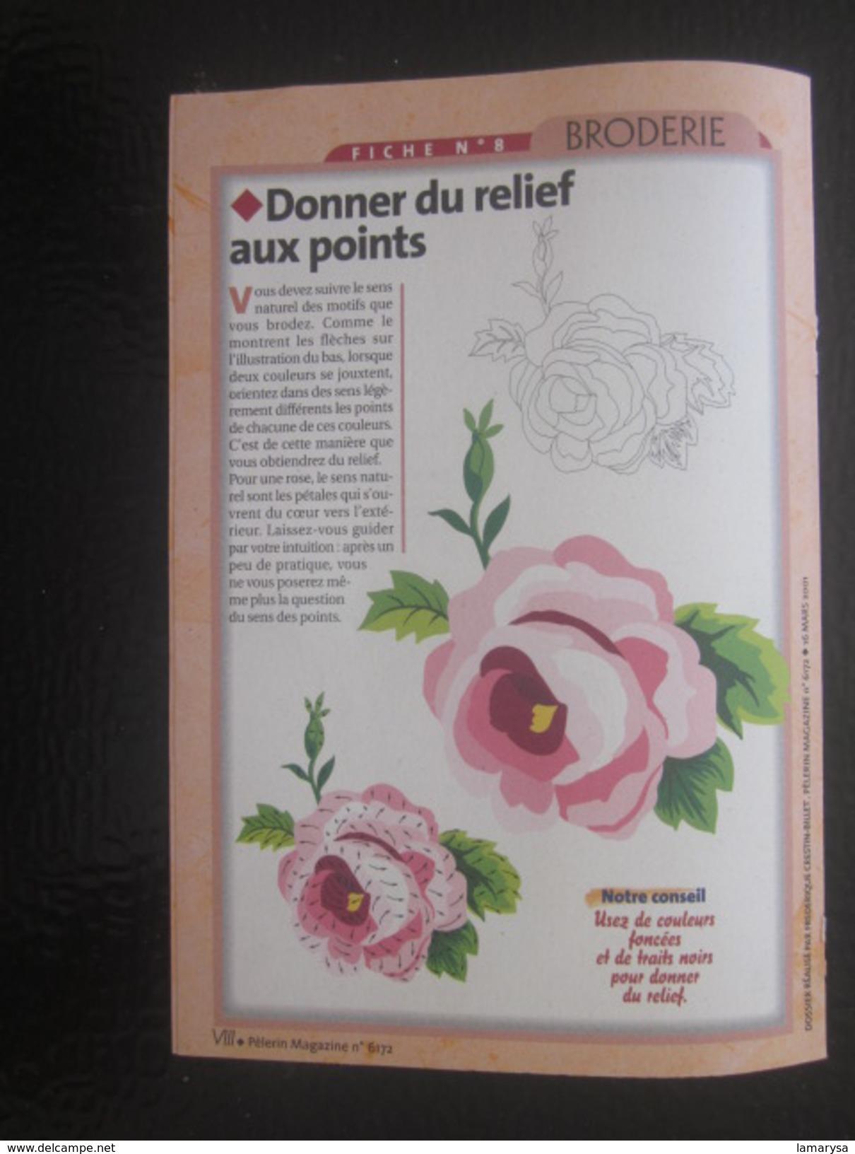 Ouvrage Tricot-8 Motifs Le Passe Plat-points Droit - Feston -bourdon-Loisirs Créatifs Vintage Décor-fleurs-Fiche N°1 - Wool