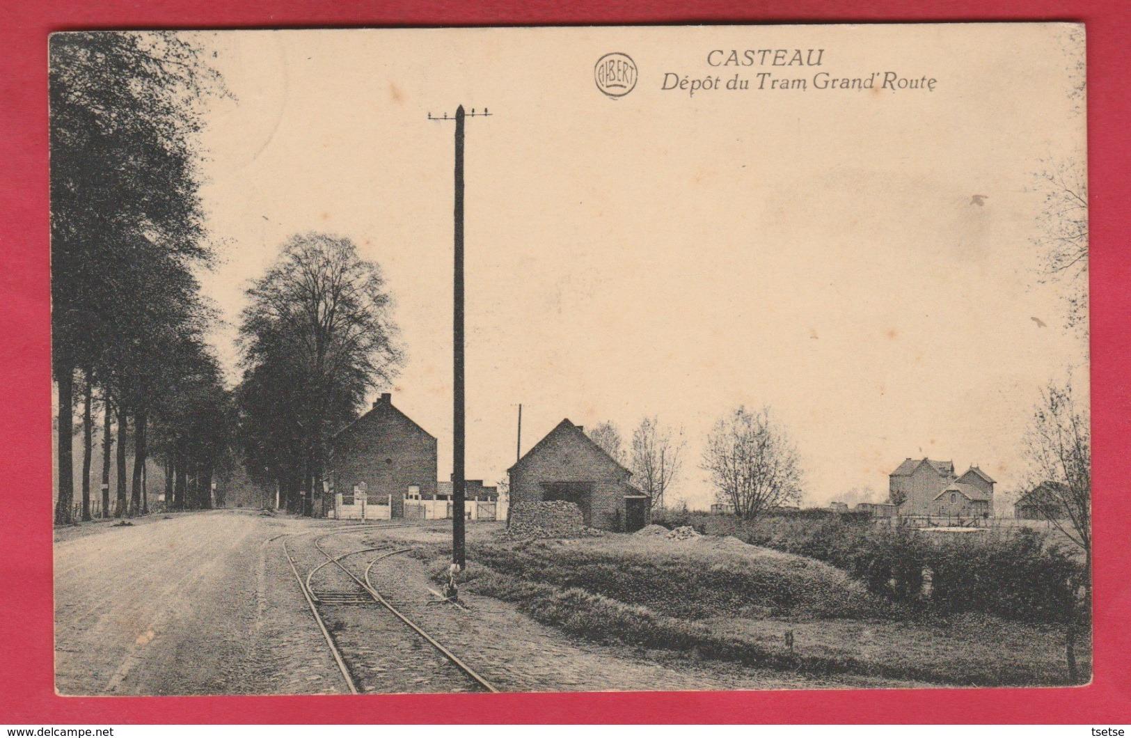 Casteau - Dépôt Du Tram , Grand'Route - 1937 ( Voir Verso ) - Soignies