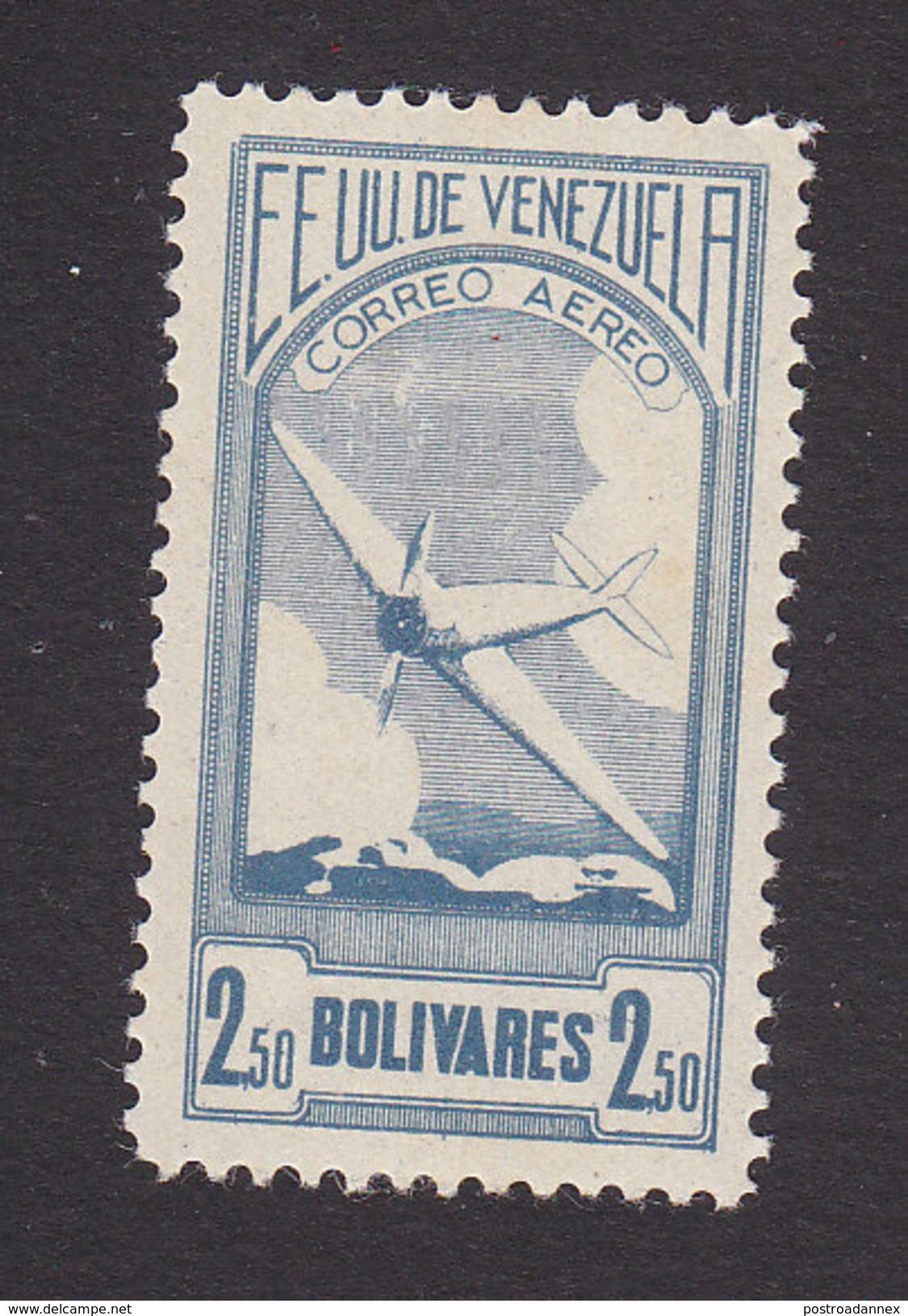 Venezuela, Scott #C59, Mint Hinged, Plane, Issued 1937 - Venezuela