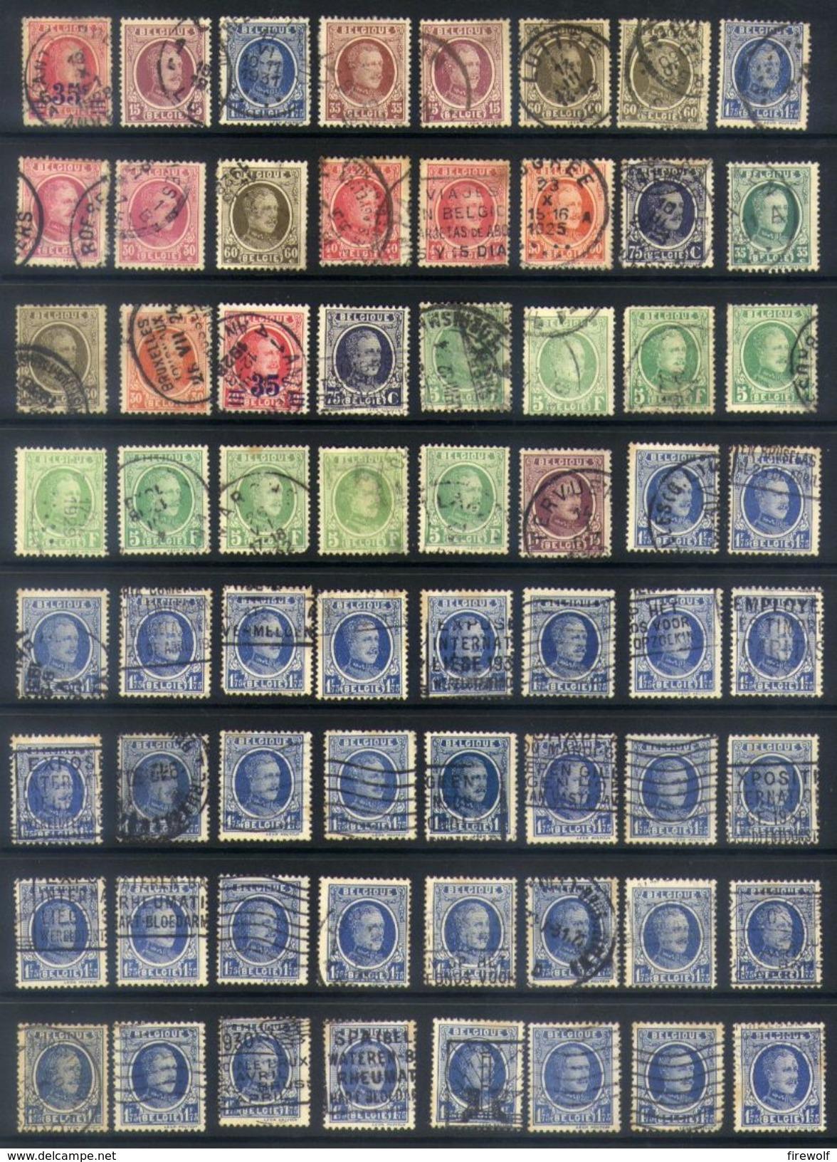Y13 - Belgium - Houyoux Used Lot - 1922-1927 Houyoux