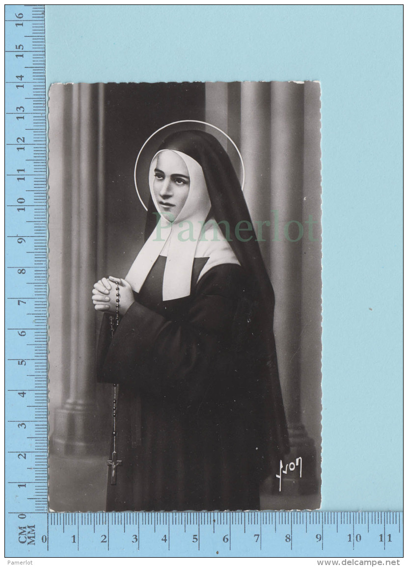 """Veritable Photographie De Sainte Marie Bernard """"Bernadette"""" Couvent St-Gildard - Nevers - 2 Scans - Saints"""