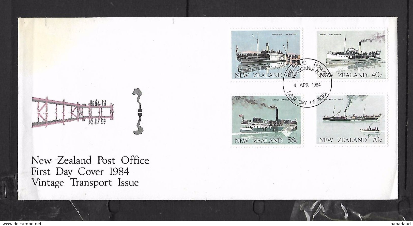 New Zealand, 1984 Vintage Transport, Boats, First Day Cover. - FDC