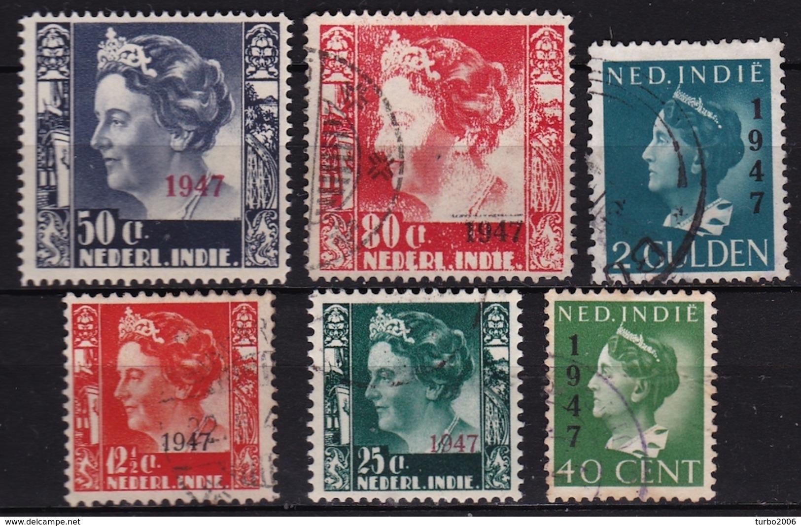 Ned. Indië: 1947 Koningin Wilhelmina Met Opdruk 1947 6 Waarden Uit De Serie NVPH 326 / 331 - Indes Néerlandaises