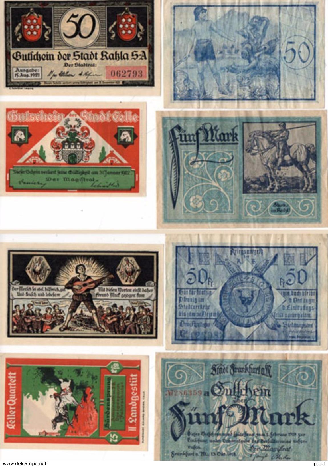 4 Billets De Banque  (99601) - A Identifier