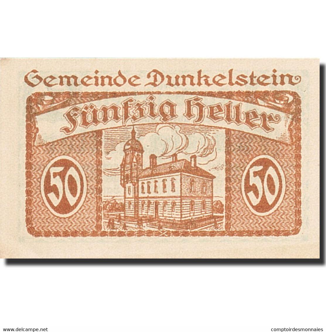 Autriche, Dunkelstein, 50 Heller, Château, 1920, 1920-12-31, SPL - Autriche