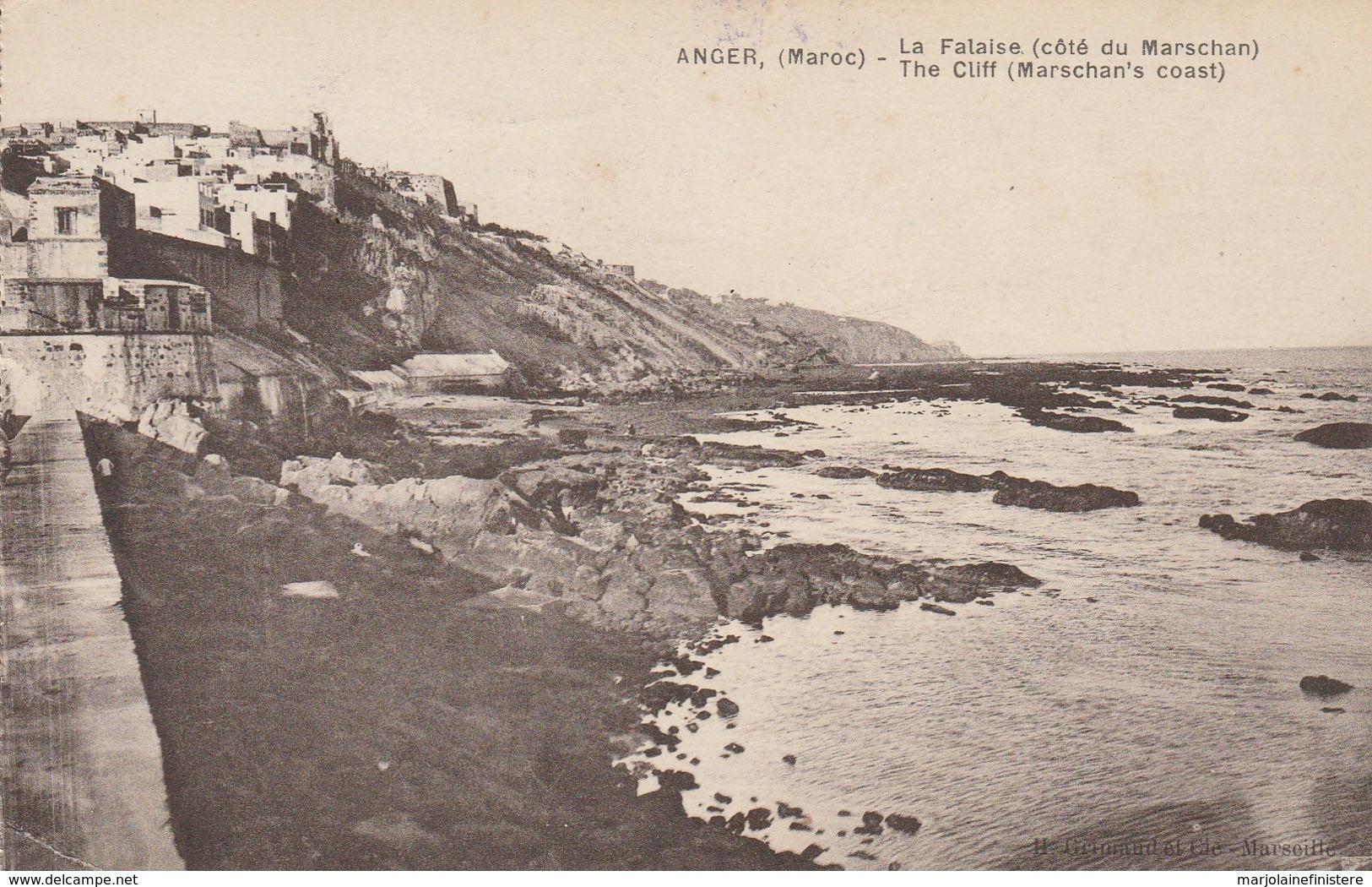 CPA  Maroc - Anger.- La Falaise (côté Du Marschan) - Otros