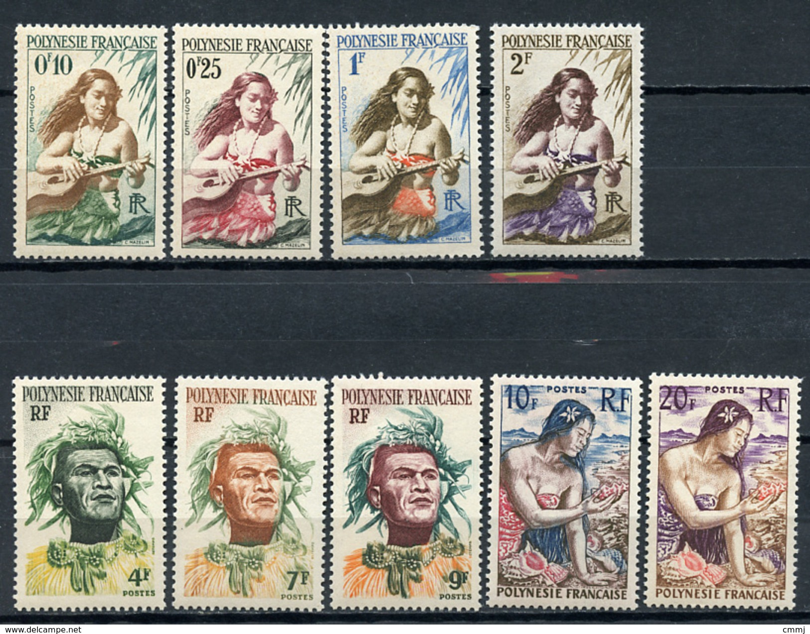 1958 -  POLINESIA FRANCESE - Mi. Nr. 1/9 -  NH - (SAND1176.12) - Polinesia Francese