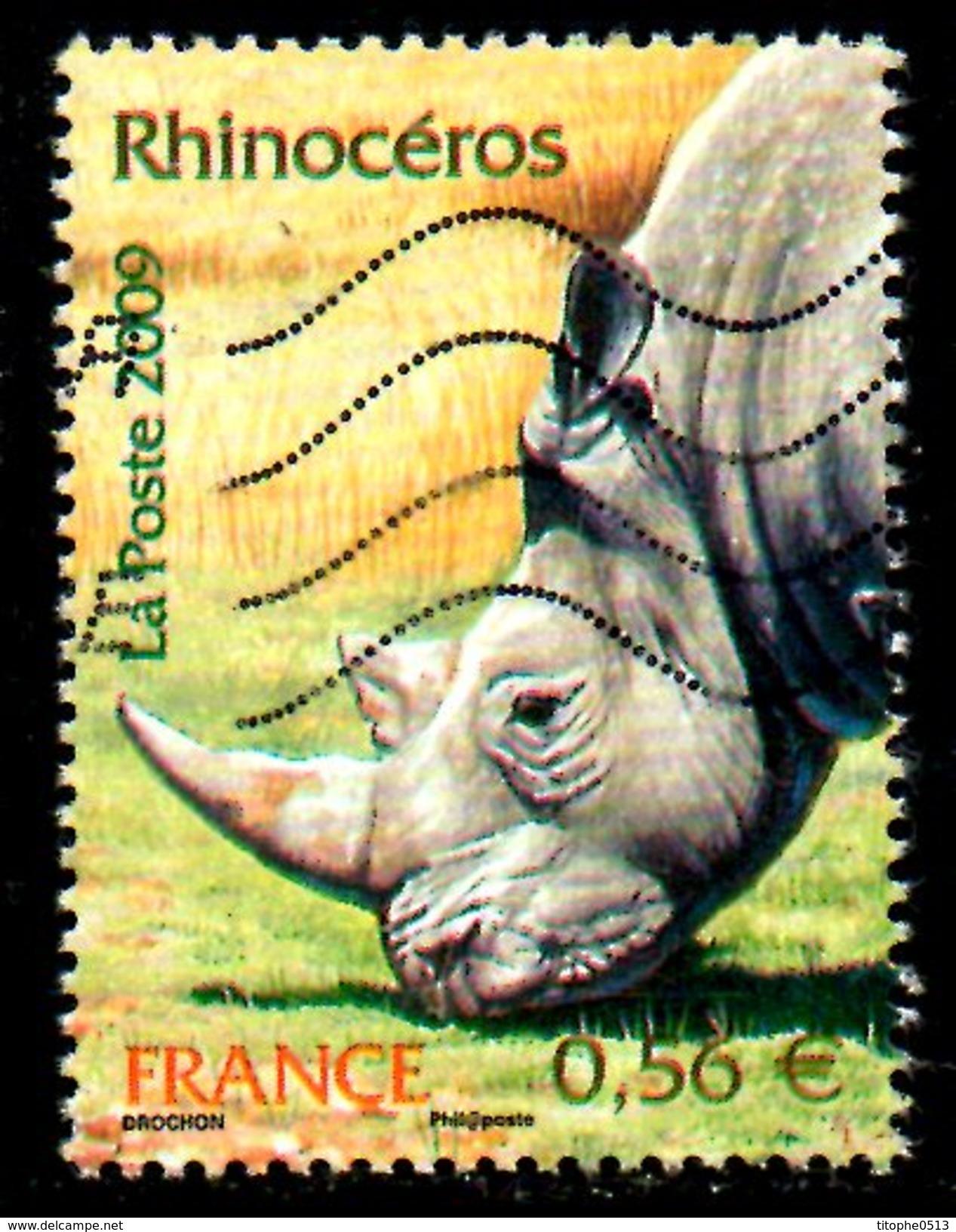 FRANCE. N°4373 De 2009 Oblitéré. Rhinocéros. - Rhinozerosse