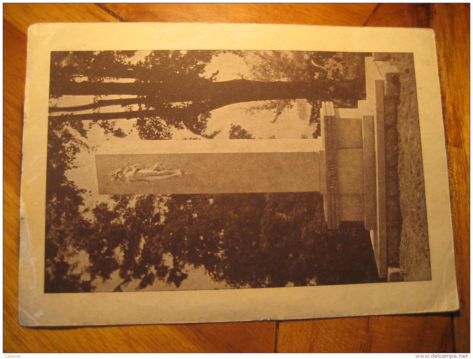 BARZDORF BEI JALIERNIG ? WW1 Monument To Vienne Wien Austria Post Card CZECHOSLOVAKIA - Czech Republic