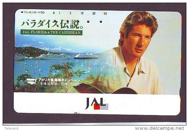 Télécarte  JAPON * 110-114571 * RICHARD GER *  JAS  (2307) * Phonecard JAPAN * Airplane * Flugzeug AVION * AIRLINE - Avions