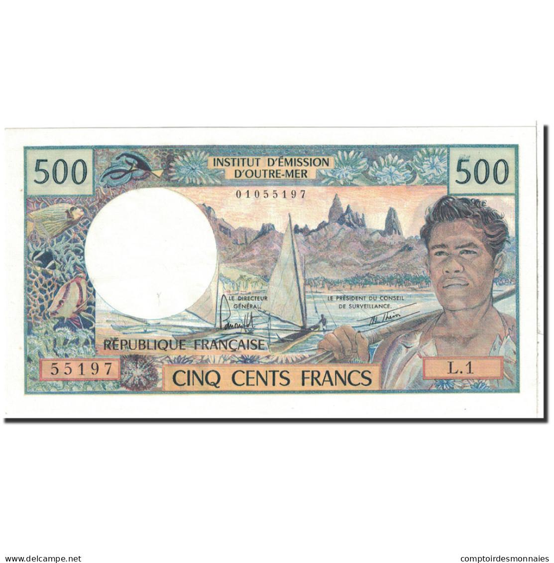 Tahiti, 500 Francs, 1977, KM:25b1, SPL+ - Papeete (French Polynesia 1914-1985)