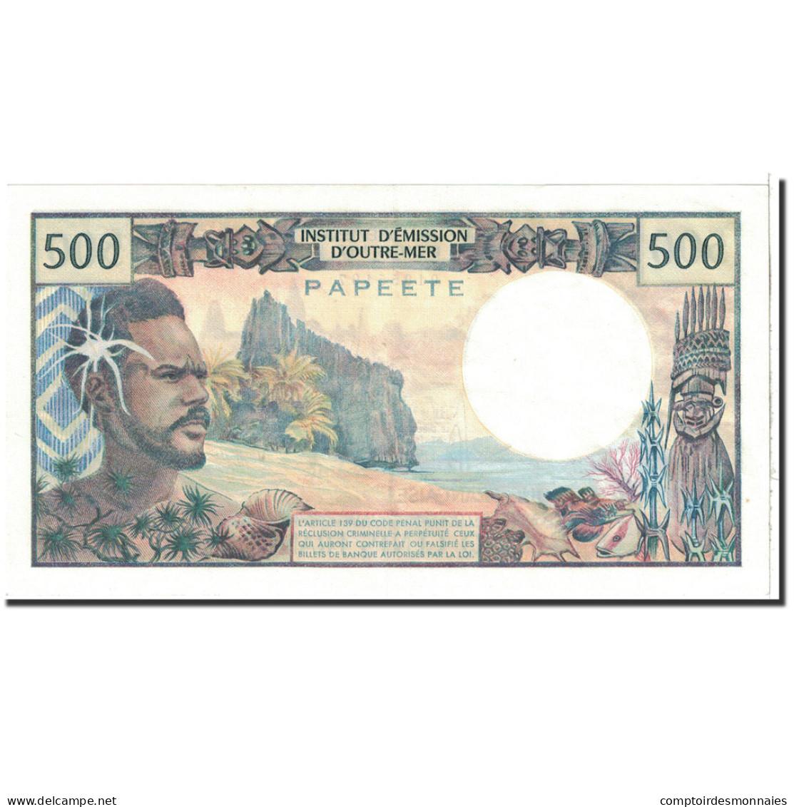 Tahiti, 500 Francs, 1977, KM:25b1, SPL+ - Papeete (Polynésie Française 1914-1985)