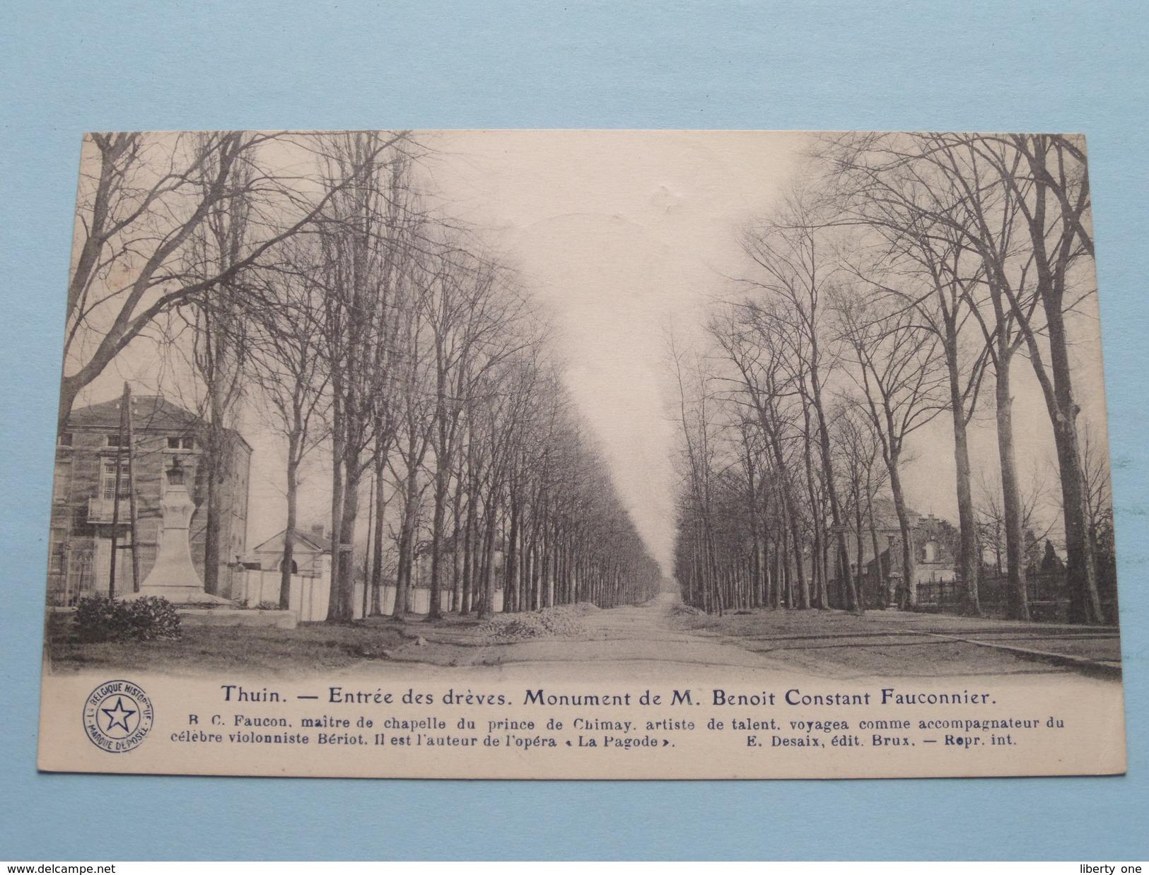 Entrée Des Drèves - Monument De M. Benoit Constance Fauconnier ( Huaux ) Anno 1925 ( Zie Foto Voor Details ) !! - Thuin