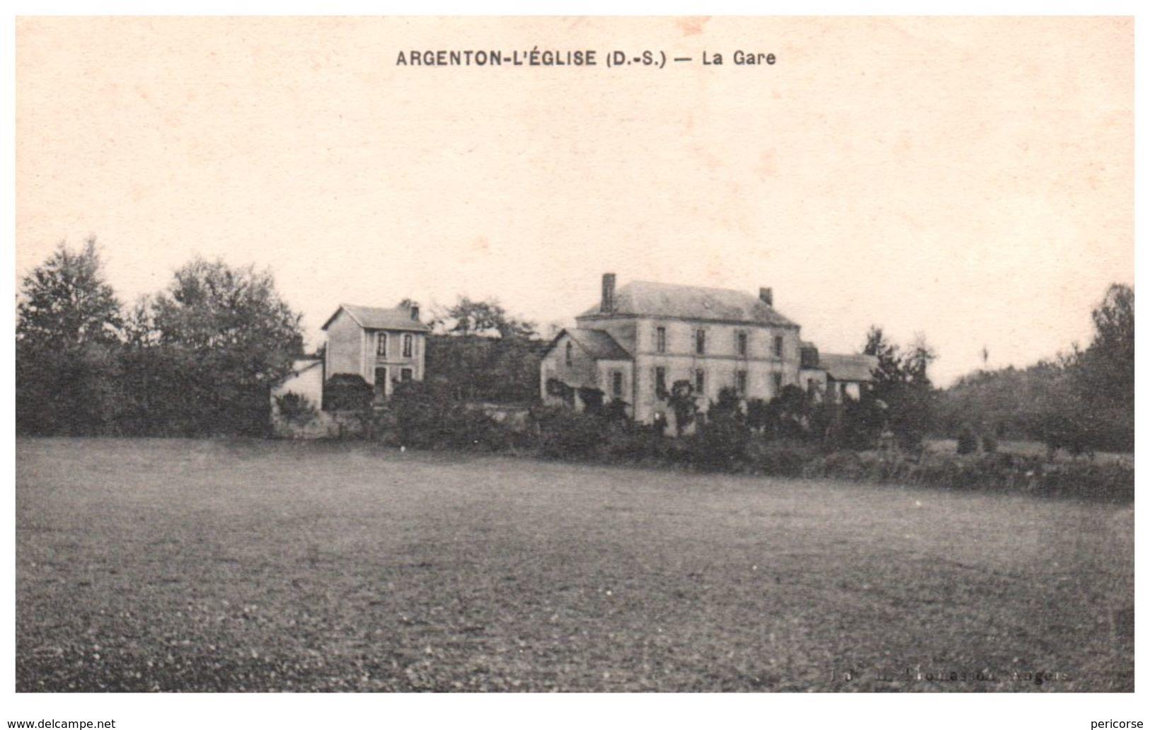 79  Argenton L'église  La Gare - Frankreich