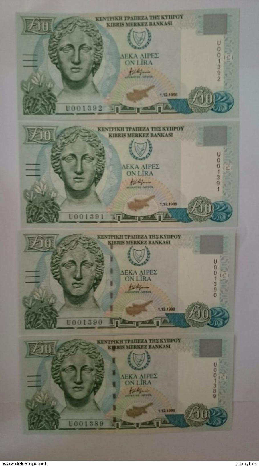 Cyprus 1998 10 Pounds UNC - Chypre