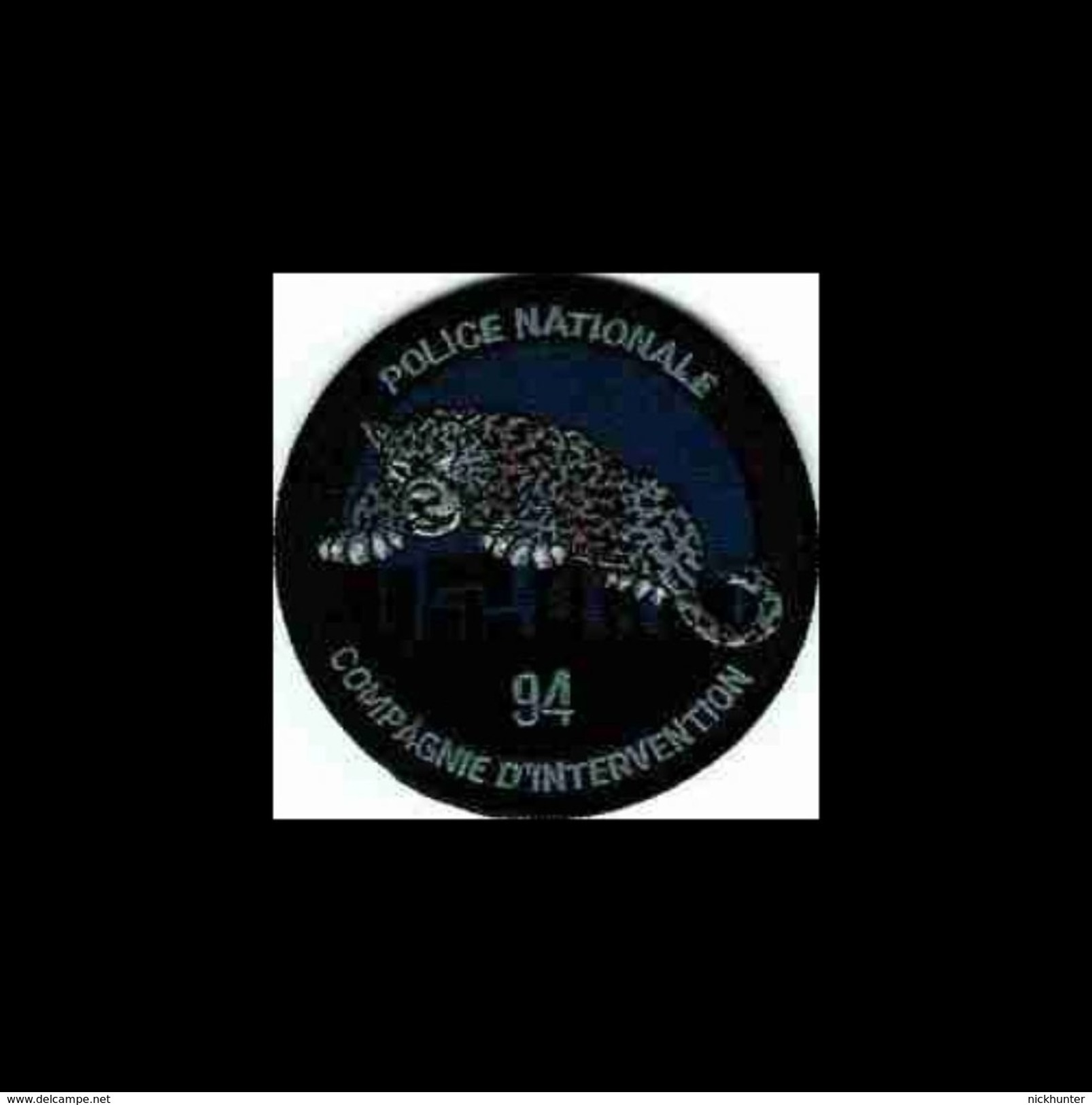 Ecusson Police 94 - CDI Troisième Version - Police