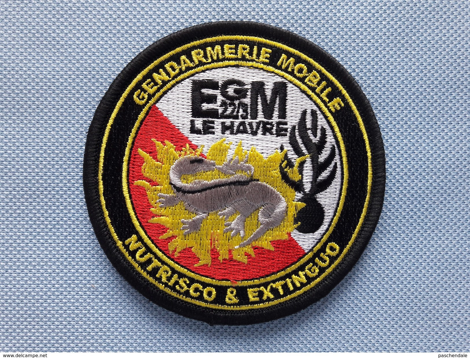 Ecusson Escadron De Gendarmerie Mobile 22/3 LE HAVRE - Police