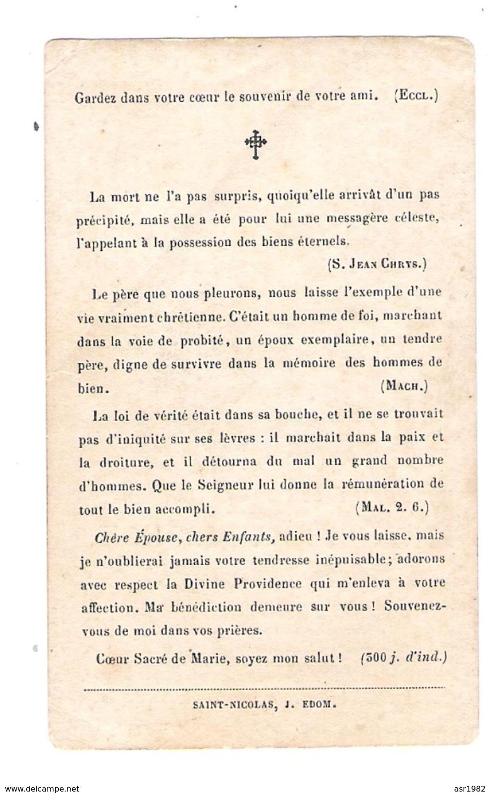Doodsprentje  Burgemeester Sint - Gillis - Waas : Honoré Raemdonck . ( Waasmunster - Sint-Gillis - Waas ) . - Religion & Esotérisme