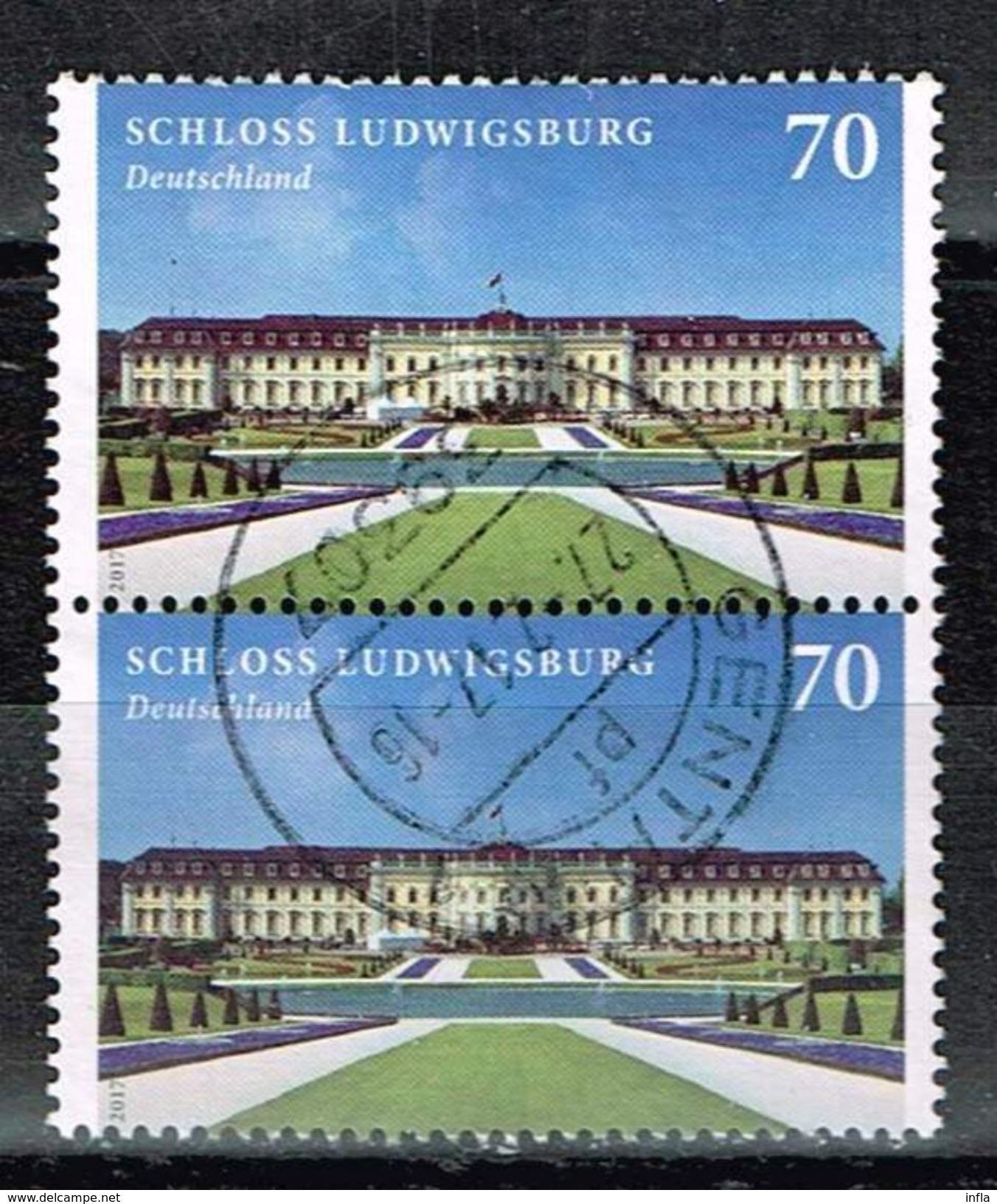 Bund 2017, Michel# 3285 O : Schloß Ludwigsburg - Gebraucht