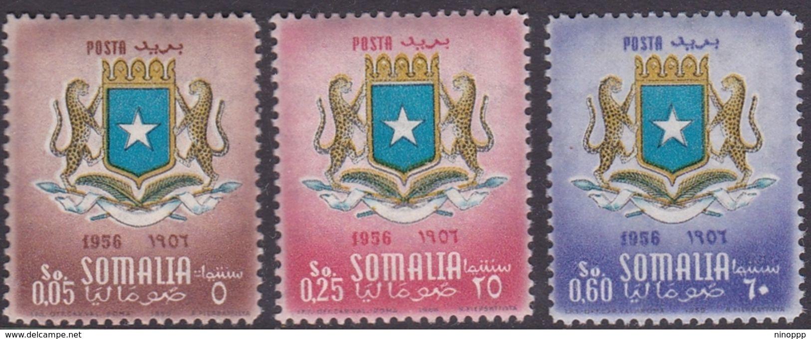 Somalia Scott 210-212 1957 Coat Of Arms, Mint Never Hinged - Somalie (AFIS)