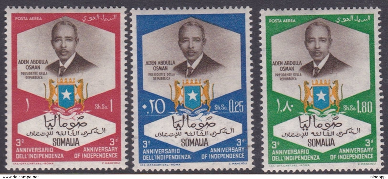 Somalia Scott 270 + C90-91 1963 3rd Anniversary Of Independence, Mint Never Hinged - Somalie (AFIS)