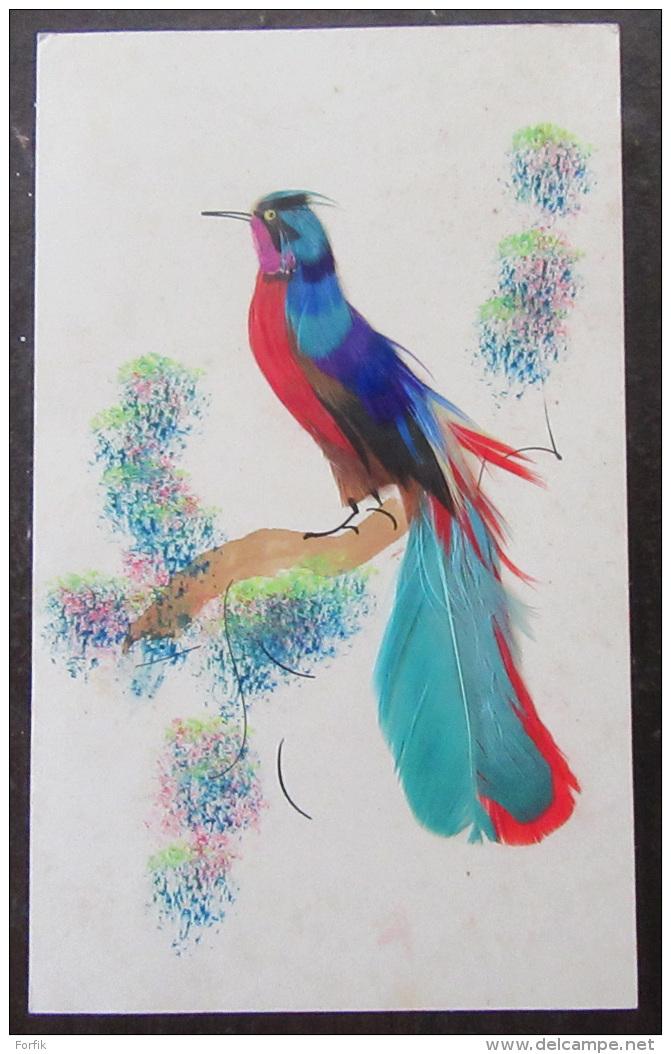 CPA / CPSM - Carte Postale Oiseau Avec Plumes Véritables - Oiseaux