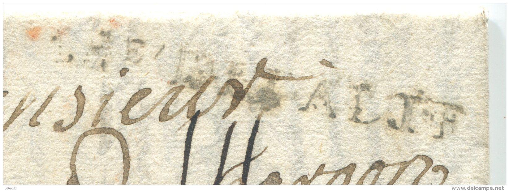 Guerre De Succession D'Autriche: Armée D'Italie  14 Avril 1746  Pour Pèzenas (hérault) - Marcophilie (Lettres)