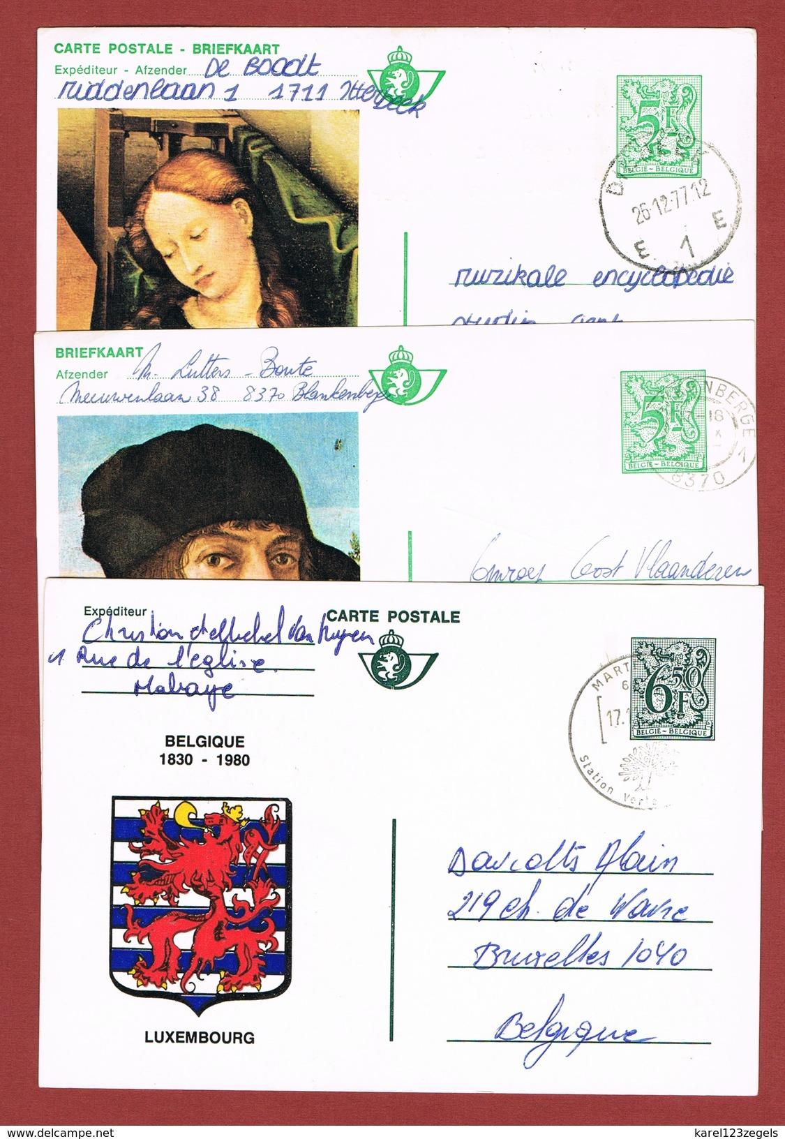 Geïllustreerde Postkaarten Zonder Bijfrankering 3 Stuks - Stamped Stationery