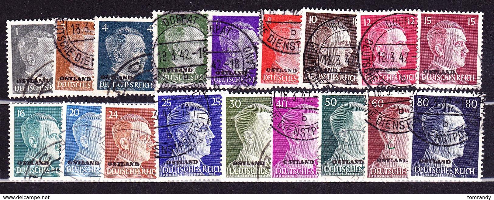 Deutsches Reich Ostland 1941. Deutsche Besetzung Estland, Lettland U.a. - Besetzungen 1938-45