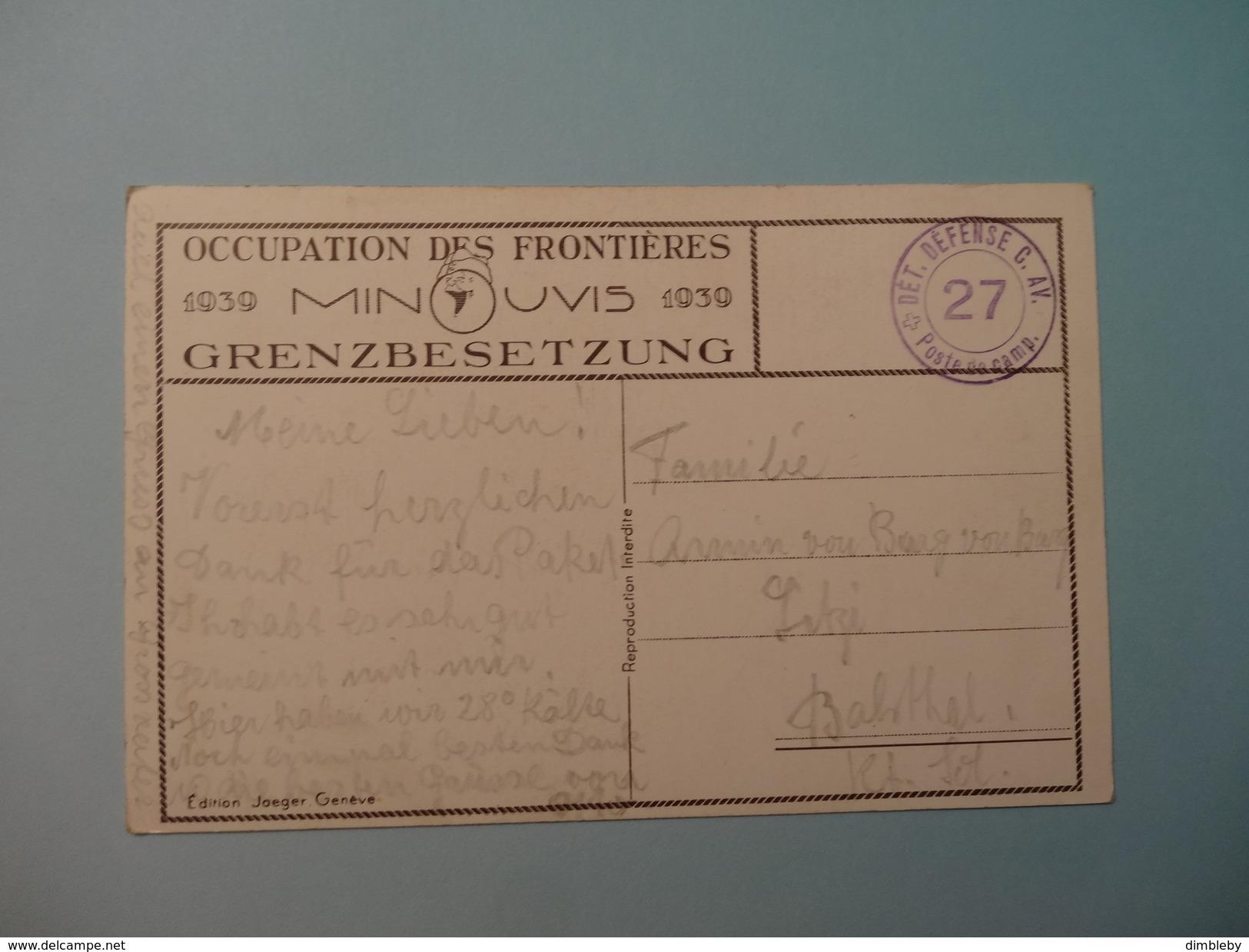 Militär - Humor - Minouvis / Grenzbesetzung 1939 (300) - Switzerland