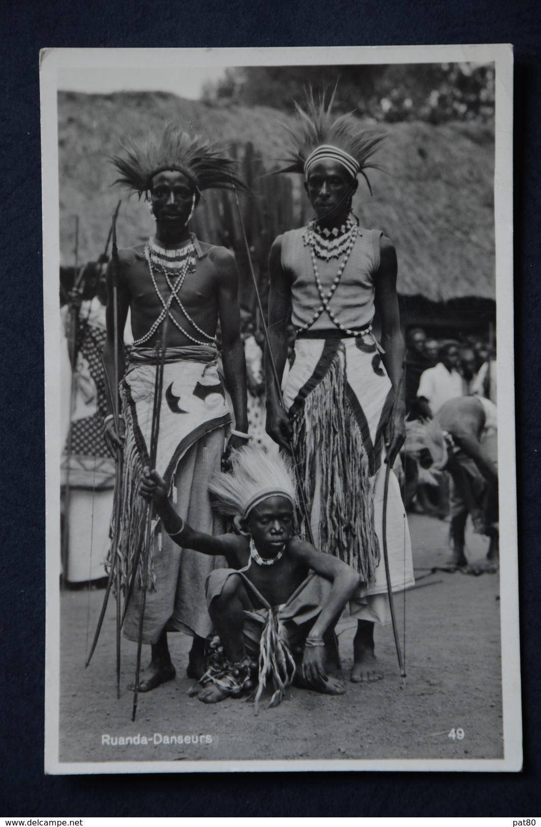RUANDA RWANDA Danseurs Carte Photo C. ZAGOURSKI 49 - Ruanda-Urundi