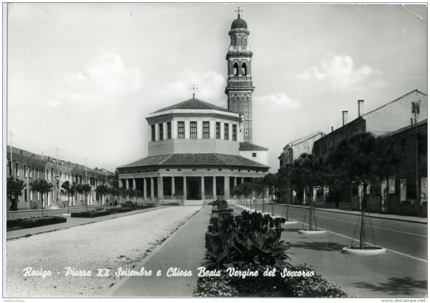 ROVIGO  Piazza XX Settembre E Chiesa Beata Vergine Del Soccorso - Rovigo