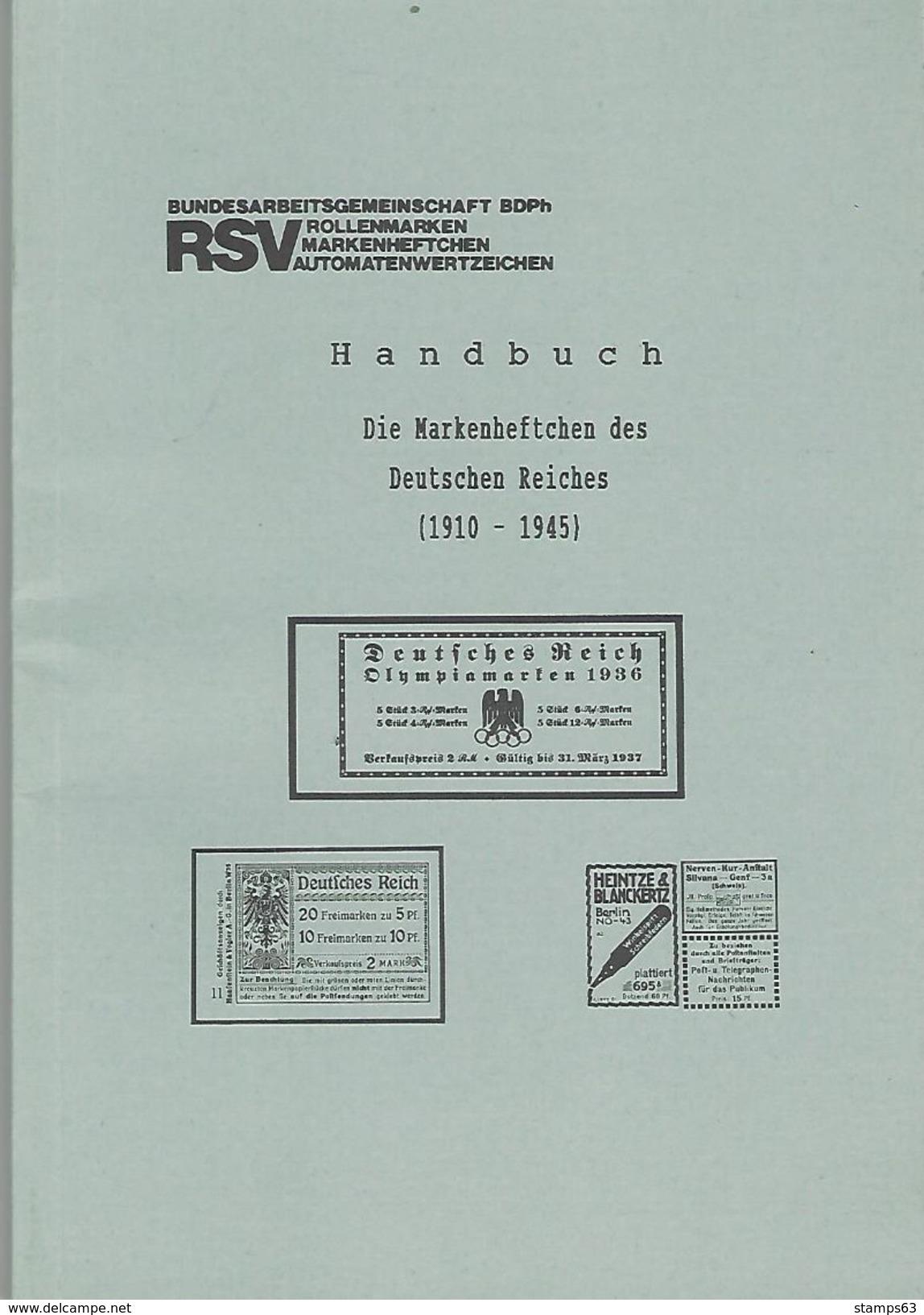 GERMANY HANDBOOK: Markenheftchen Des Deutschen Reiches (1910-1945) - Booklets German Reich - Bayern