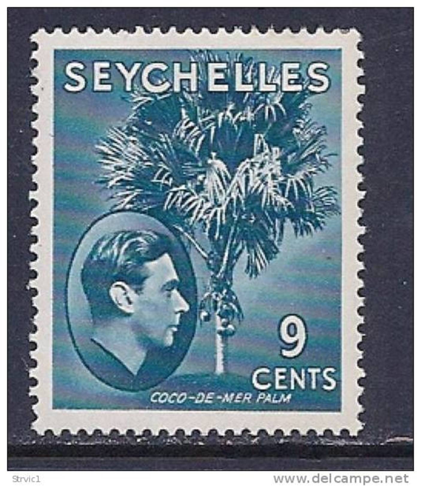 Seychelles, Scott # 131 Mint Hinged Coco De Mer Palm, 1941 - Seychelles (1976-...)