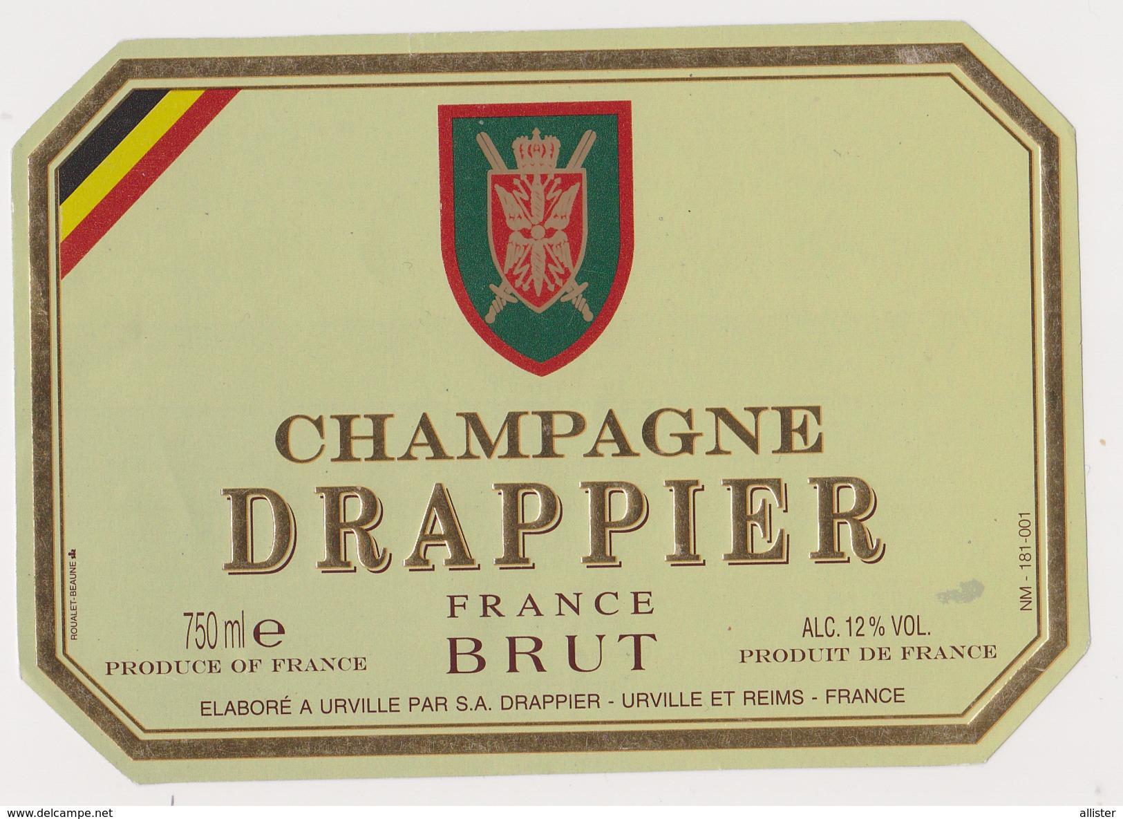 Etiquette Champagne ( DRAPPIER Brut ) {S38-17} - Posters