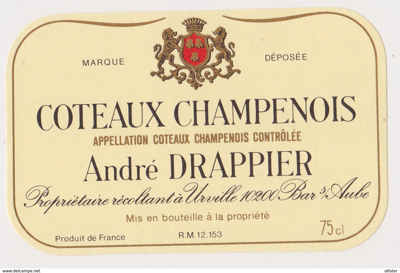 Etiquette Champagne / Coteaux Champenois ( DRAPPIER ) {S38-17} - Posters