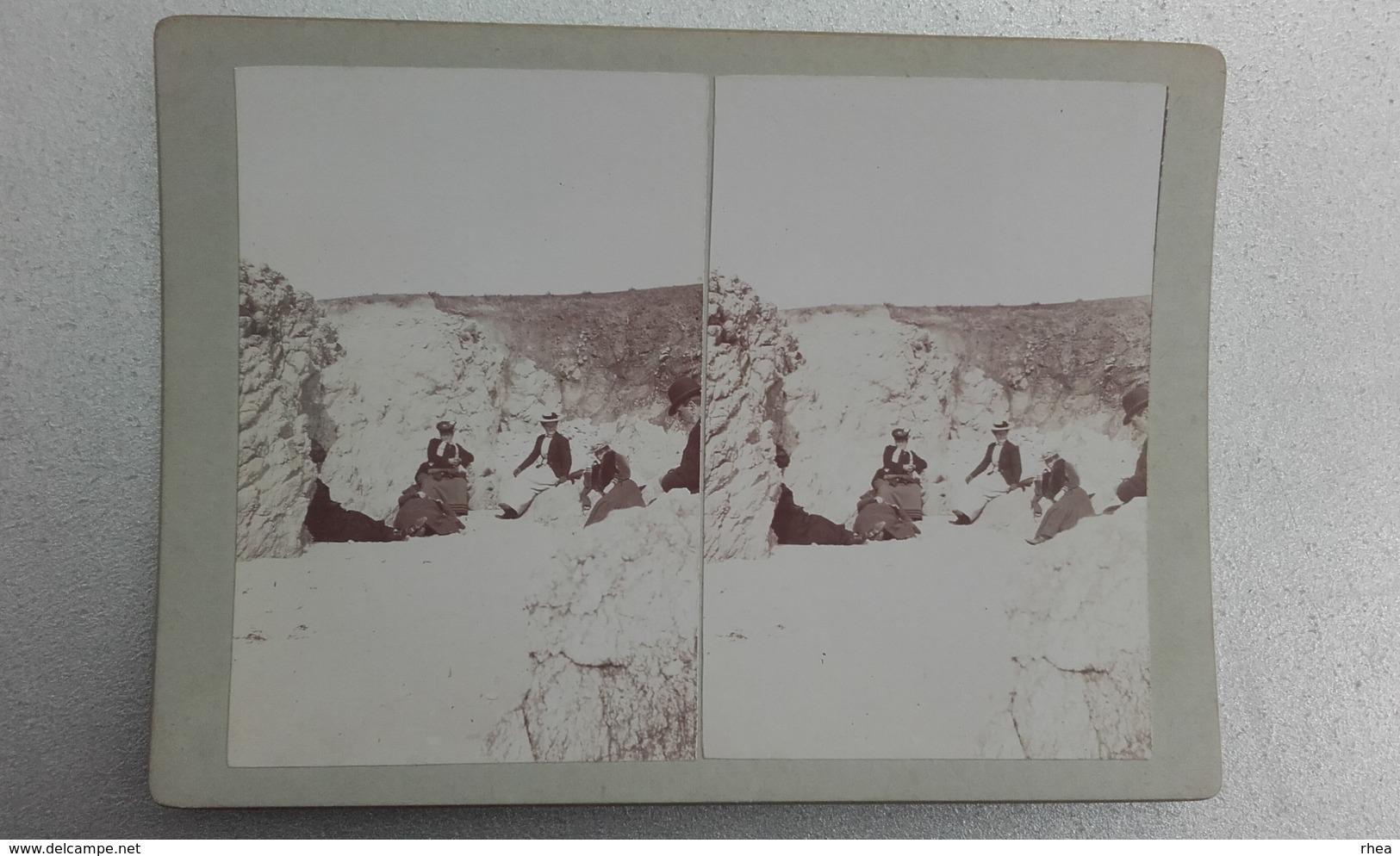 44 - PIRIAC - Photo Stéréo Sur Carton - - Photos Stéréoscopiques