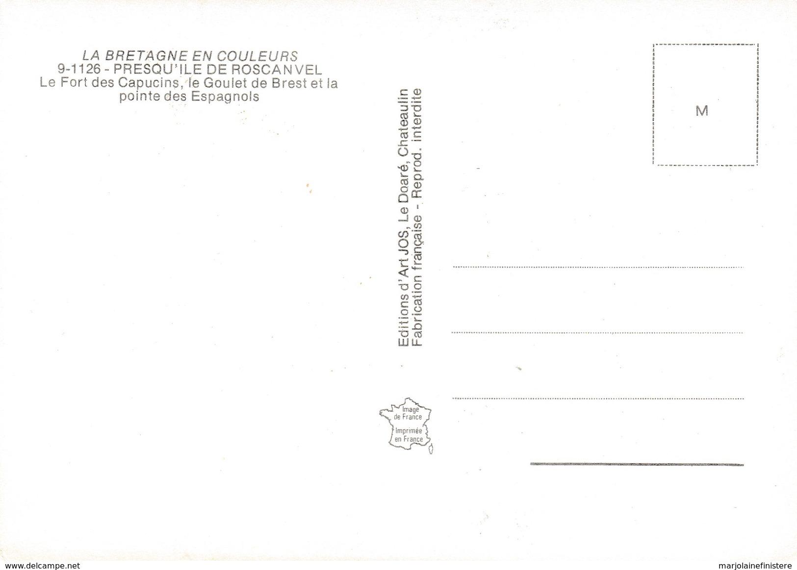 CPM - La Bretagne En Couleurs. - Presqu'île De Roscanvel. Vue Aérienne. Ed. D'Art JOS Le Doaré. N° 9-1126 - Other Municipalities